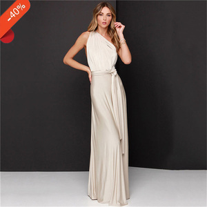 d8ebd4d2ff Long floor-Length Infinity dress for bridesmaid convertible dresses party  clothes silver gray gold
