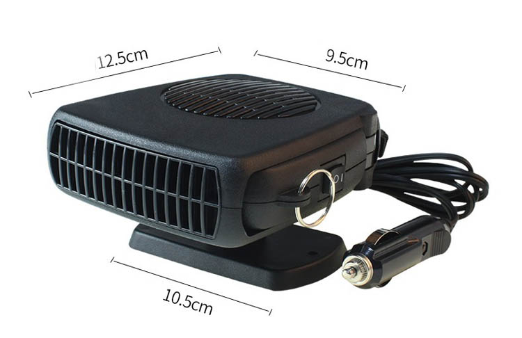 Hot Selling 12V Black Car Radiator Electric Car Heater Fan