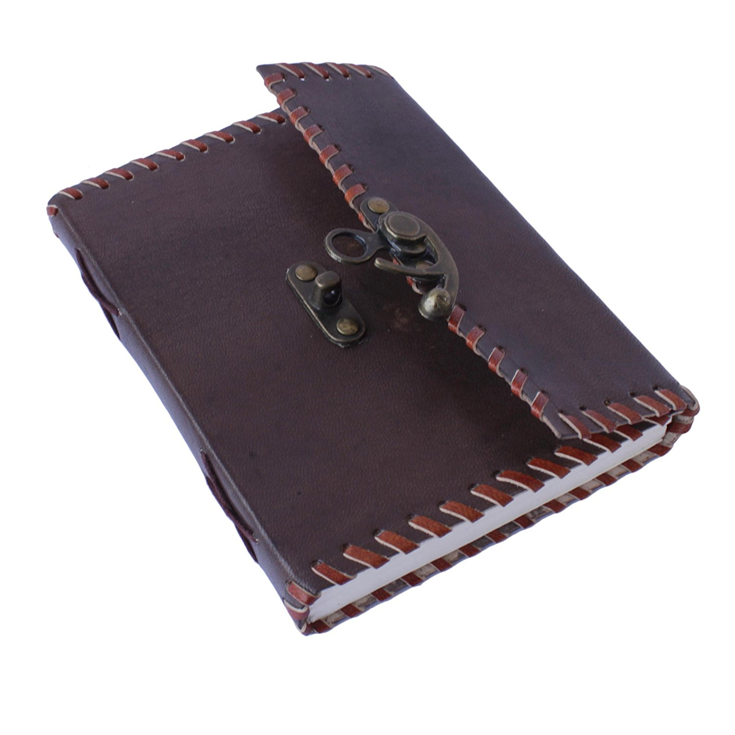 Genuine Leather Journal / Personal Diary / Writing Notebook / Scrap Book/ Doodle Book / Travel Book With Secured Lock Handmade By Artisans Of India