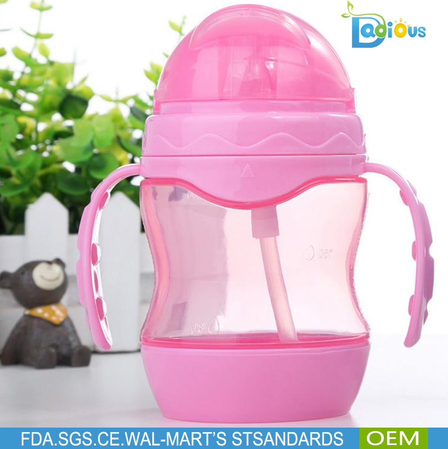 2017 new baby products bottle Common BPA free Easy to clean 280ml non-spill training baby sippy cup