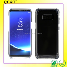 china market QC&T for Samsung Galaxy S8 Clear Anti shock Double Layer Tpe+PC Hybrid Phone Cover Case mobile phone accessories