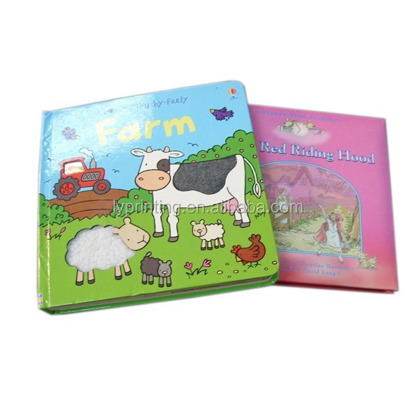 Hardcover coloring story book, colorful story children books and fairy tales