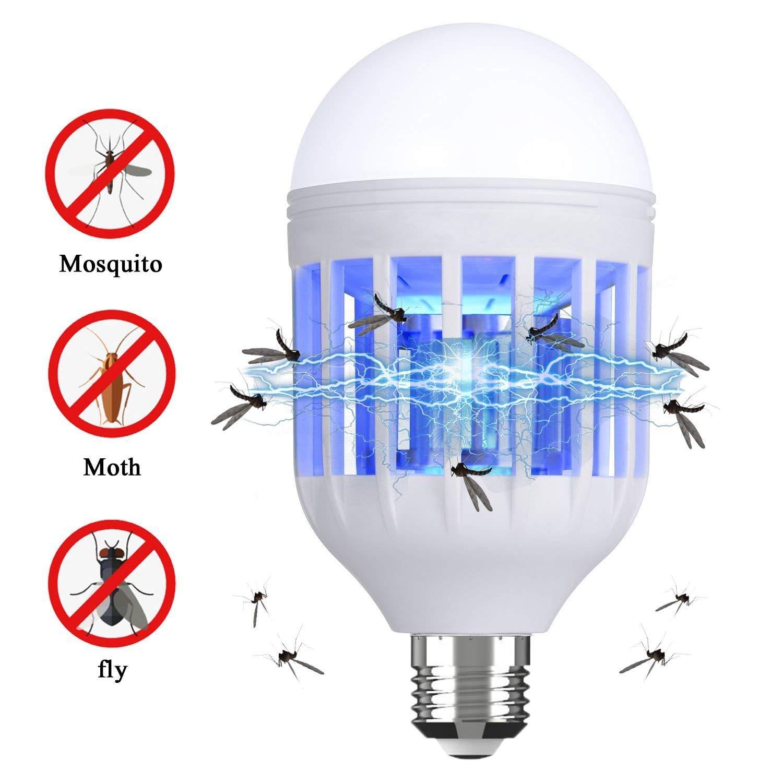 Danlit Bug Zapper Light Bulb, Electronic Insect Killer, Mosquito Killer Light Bulb, Fits in 110V E26/E27 Socket Suit for Home Indoor Outdoor Garden Patio Backyard (Blue)