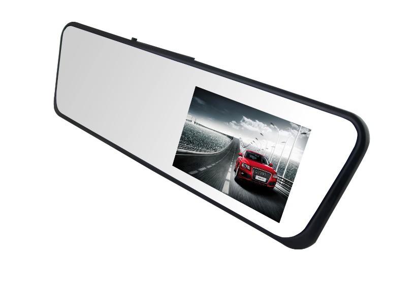 Автомобильный видеорегистратор синего стекла на ближний свет поддержка WDR / HDR и парковка зеркало заднего вида Cam 4.3 дюймов TFT LCD полный HD1080P автомобильный видеорегистратор рекордер H701
