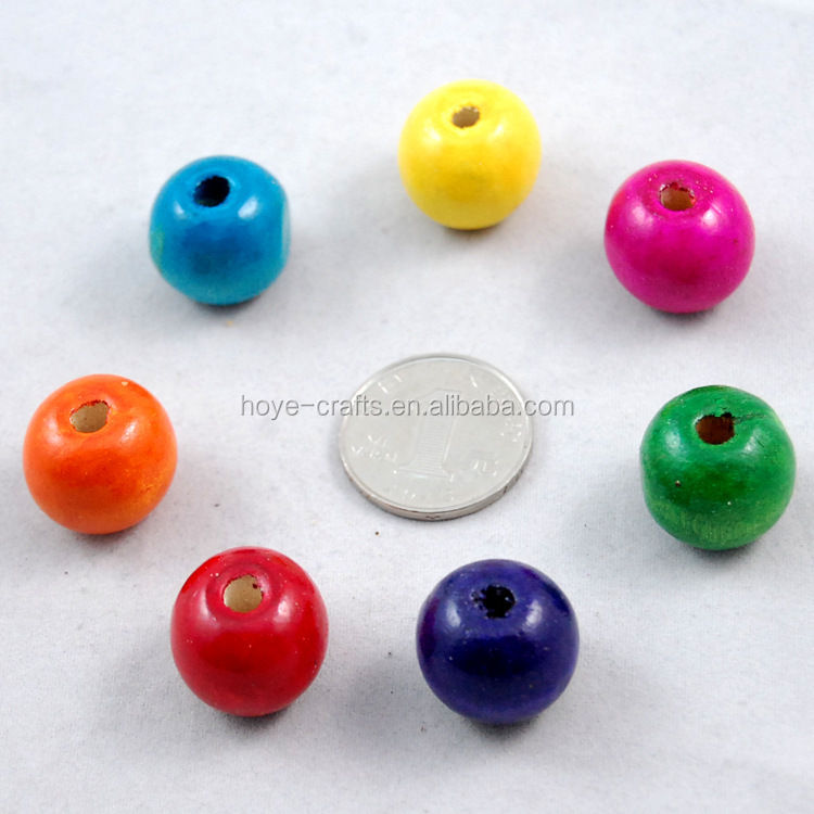 10mm wood round ball solid natural wooden beads with hole