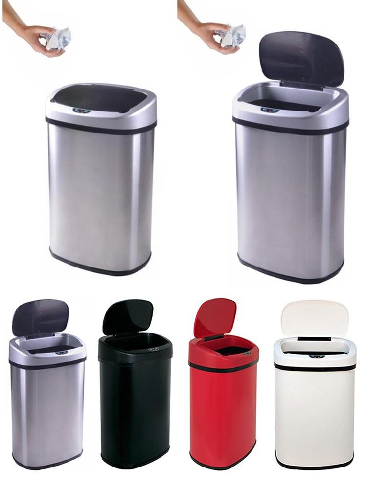 Abfalleimer 13 Gallonen Küche Garage Abfallbehälter Kommerziellen Edelstahl