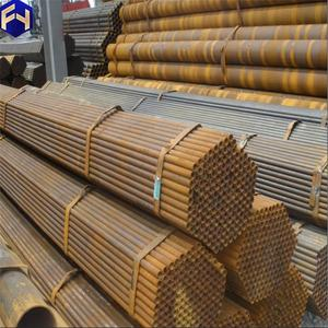 Hot sell and the best price black iron prices bare steel pipe for structure alibaba china market