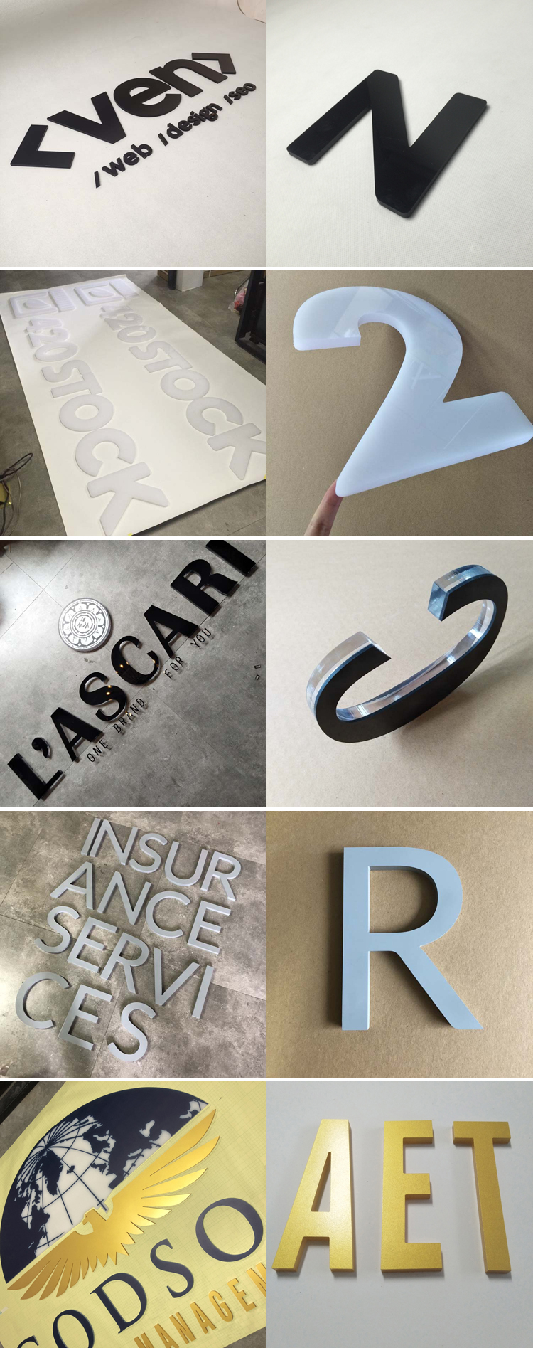 2019 New Customized  Laser Cut Acrylic Letter 3D Plastic Acrylic Letters for Advertising