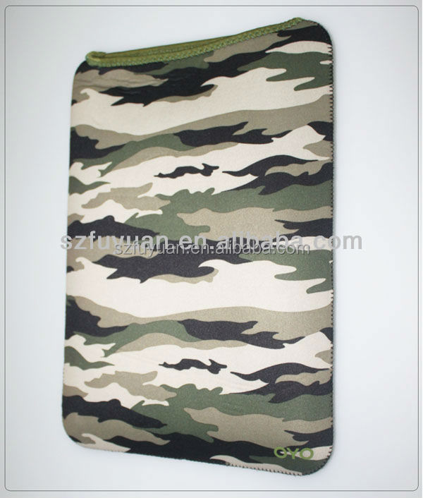 14 inch camouflage neoprene laptop sleeve