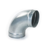 High quality Galvanised ventilation round duct bend fitting spiral duct