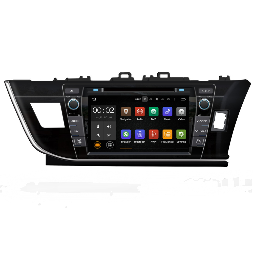 Android 5.1.1 Quad core car gps navigation bluetooth for <strong>Toyota</strong> <strong>COROLLA</strong> 2014 RHD