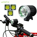 Walkefire 5000Lumens rechargeable led bike lights 3xT6 LED Front Bicycle Lamp Bike bicycle light 8 4V