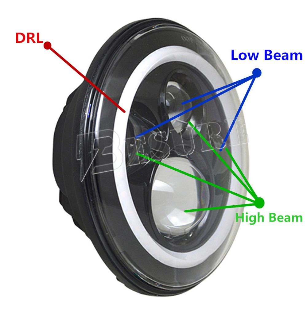 30w Led Car Headlight Bulb H14 H13 High Low Dual Beam Driving Led ...