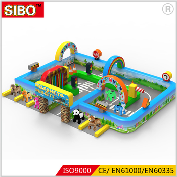 Amusement park inflatable playground for children inflatable fence hot sale in 2017