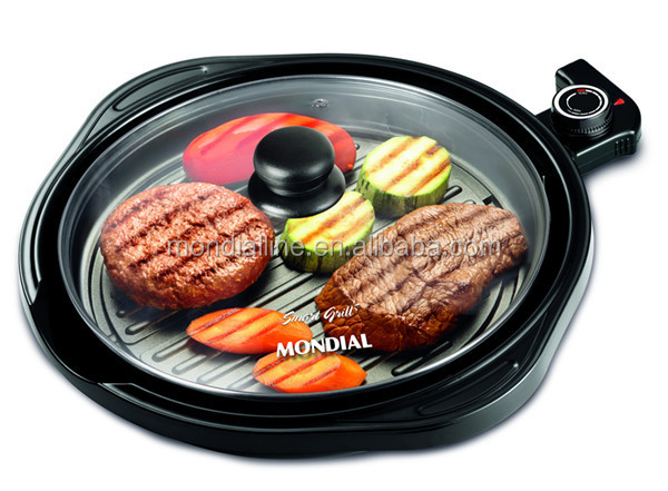 thermostat control low competitive price round non stick pan bbq electric barbecue grills