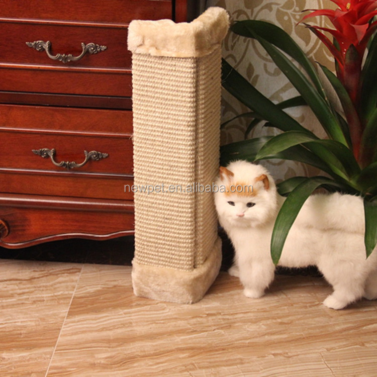 China wholesale hotsell flat cat cardboard tree scratcher sisal cat toy scratching pad