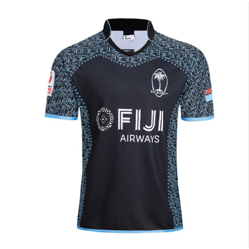 Custom sublimated high quality customized nylon plain blank black rugby jersey shirts