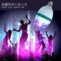 Auto Mini Party Light Stage Lighting LED Bulbs E27 B22 3W RGB LED Plastic Rotating Lamp