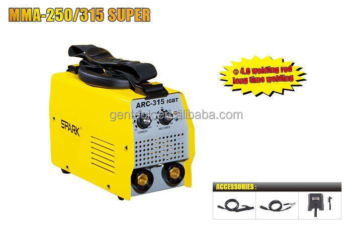MMA-250/315 SUPER, 1Phase, IGBT inverter LONG TIME WELDING, Easy ARC Starting, ARC WELDER 200