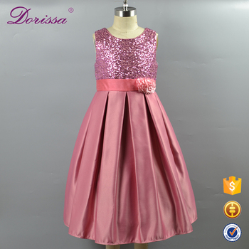 9f6dc09710 5-12 Formal Baby Girls Birthday Dresses Kids Party Wear Wedding cheap Frock  Pall Sequin