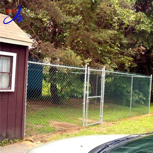 4x10 Chain Link Fence Swing Gate Panel With Post
