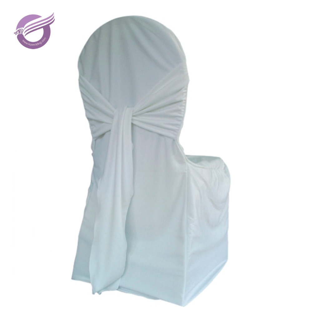 YT01236 white wedding plain banquet spandex scuba polyester fancy chair cover