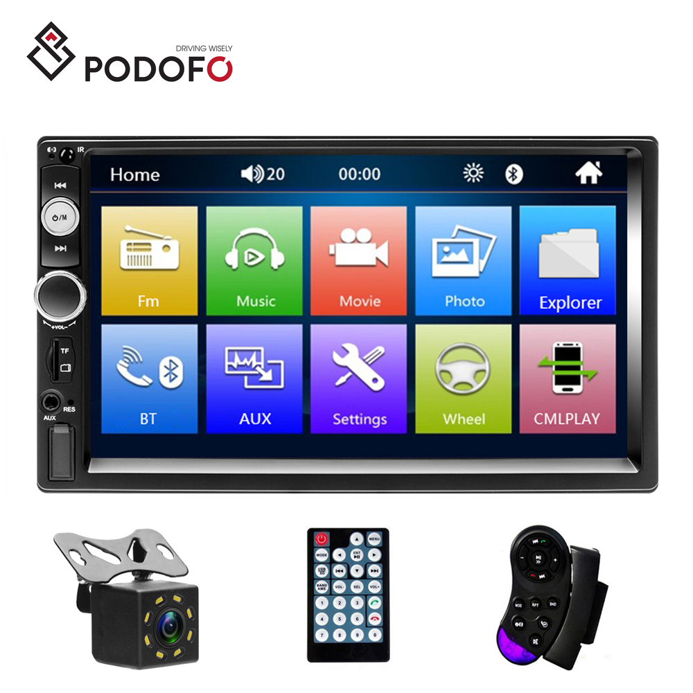 "Doble 2Din 7/"" HD Coche Estéreo Mp5 Jugador Bluetooth FM Radio AUX//USB RC Cámara"
