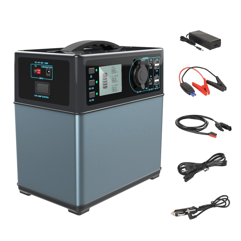 Portable Solar Generator 400Wh for home lithium ion energy storage battery