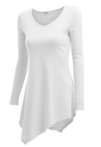 Custom Ladies Plain T-shirt Dresses 100% Cotton Long Sleeve Ladies ...