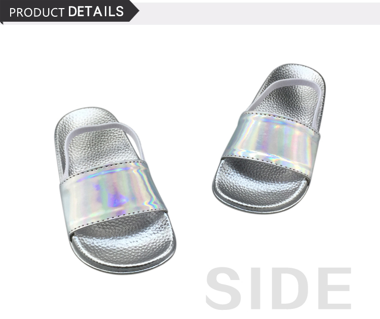 Latest Design Baby Kids Slide Cute Flat Girls Fancy PU Children Slippers