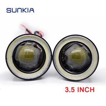 89mm 3.5 Inch 7000K 12v 10w High Intensity LED Angel Eyes Fog Light