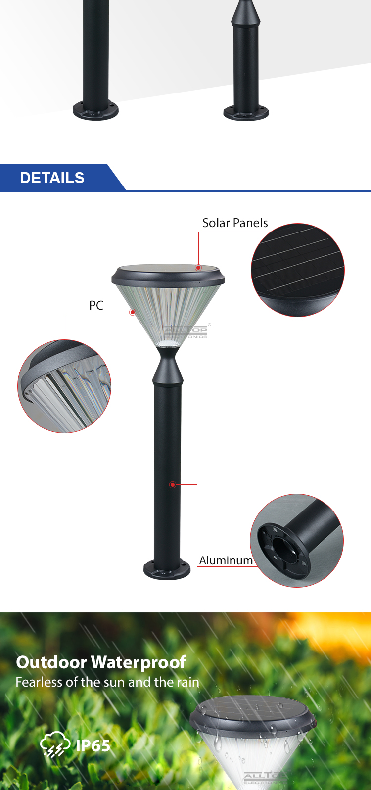ALLTOP solar panel yard lights-13