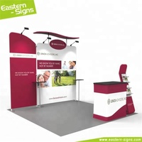 Best selling aluminum display easily install free standing aluminum exhibition booth material