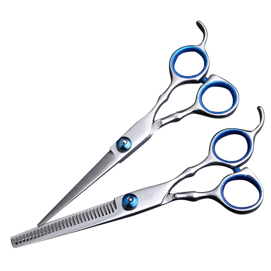 Saebye Professional Dual Haircutting Scissors 6 inch Sharp Blades Barber Shears Thinning Hair Cut Scissors Set