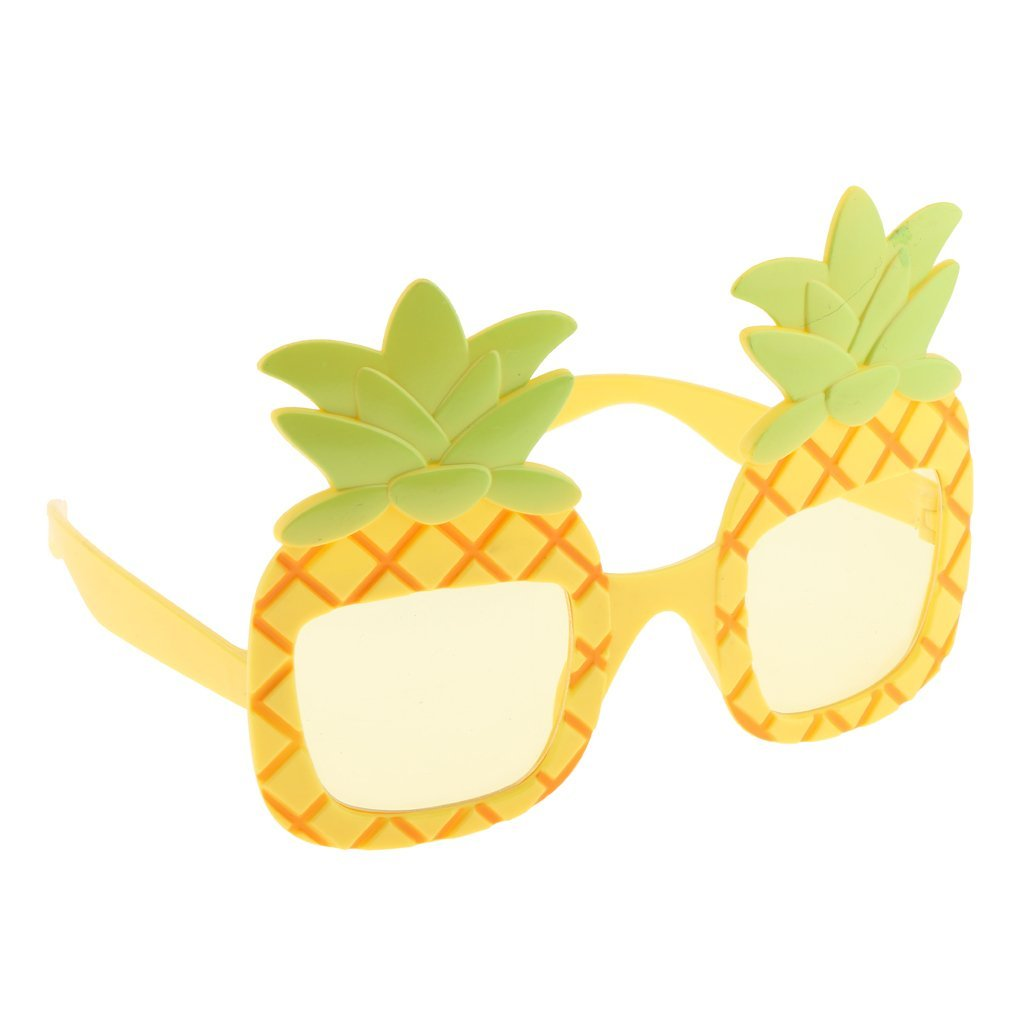 Dovewill Unisex Pineapple Glasses Tropical Hawaiian Beach Novelty Sunglasses Fancy Dress Hen Stag NIght Bachelorette Party Gift