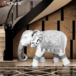 Hot Home Decoration Indian Antique Resin Large Elephant Statues