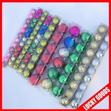 mix color and new design christmas decorative balls 2014 new arrival hanging tree ornament and accessories