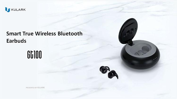 KULARK GT100 2019 Prodotti di Tendenza TWS Cuffie Senza Fili Stereo 5.0 Bluetooth Mini Auricolare TWS Auricolari per il Telefono