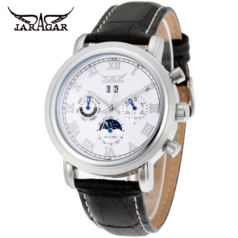 whole 2017 moon phase mens watches jaragar luxury automatic 2017 moon phase mens watches jaragar luxury automatic watch white dial cheap mechanical watch