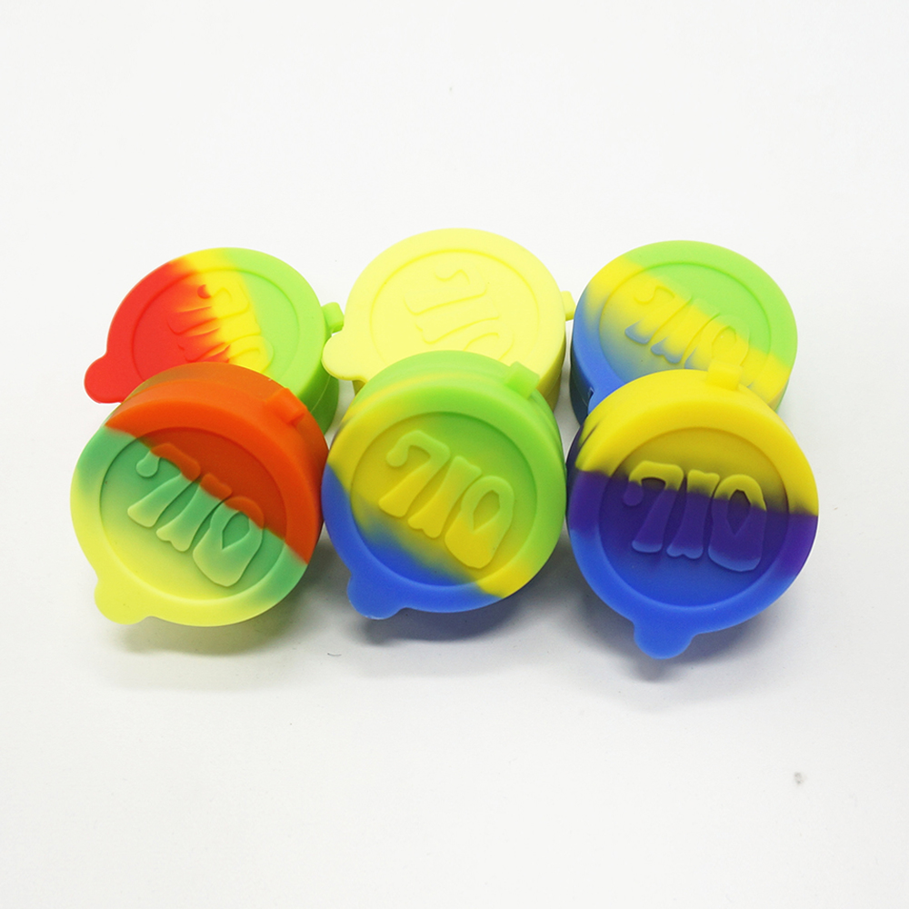 Portable Multifunction Eco-friendly 5ml Silicone Container for Wax/Oil