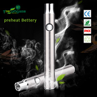 2016 wholesale 510 thread preheating battery button style for cbd oil atomizer