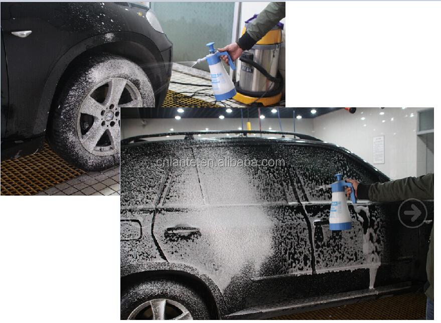 Foam Spray Bottle Portable Plastic Shampoo Sprayer Garden Car Wash