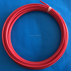 Corrosion Resistant Tube 100% Virgin Pipe Hot Selling Red 8x6mm FEP Fluorine Plastic Material Floor Heating Tube Melting Ice Pipe
