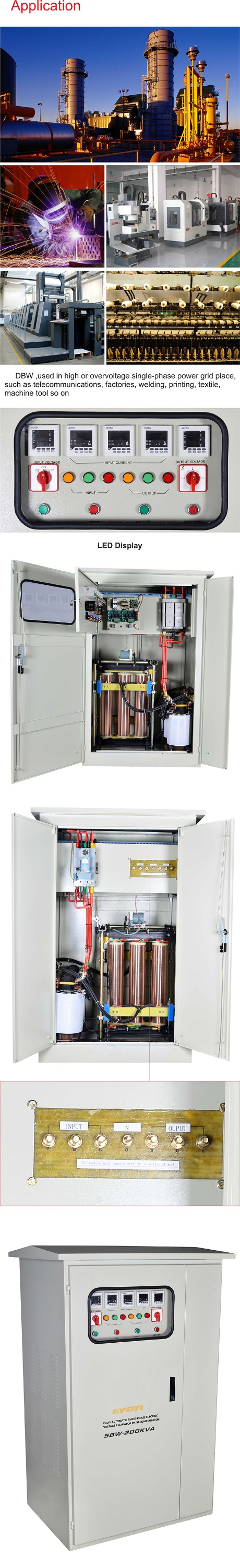 380V AC Stabilisateur de tension/Alimentation en courant alternatif/AVR régulateur de tension 800kva