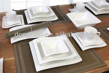 square ceramic dinnerware set with wave & Square Ceramic Dinnerware Set With Wave - Buy Dinnerware Set ...