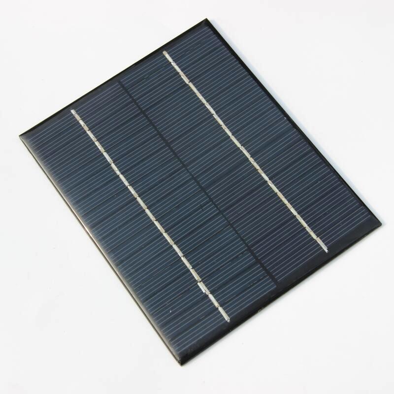 Carregador de bateria solar 3w silicone, polycrystalline,