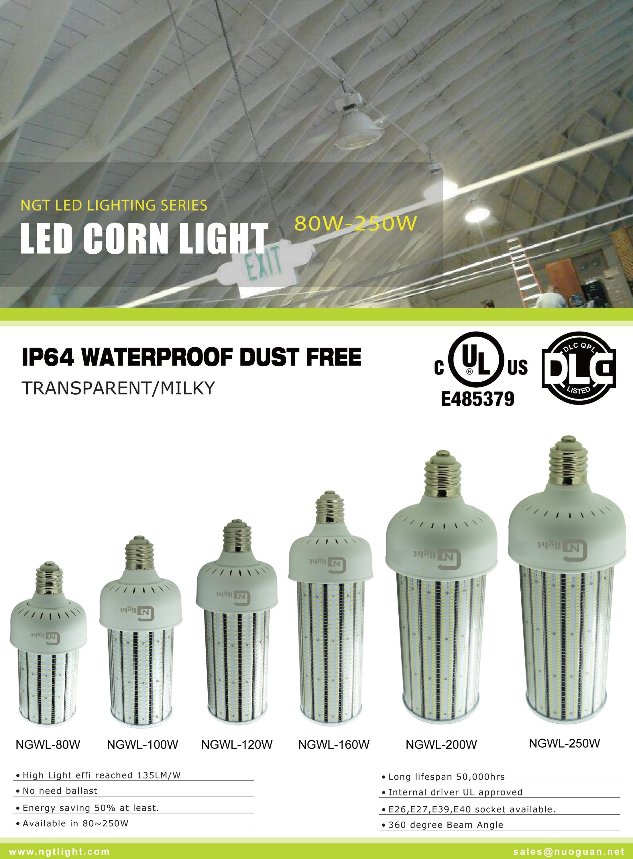 100w 120w 160w 250w Led Corn Light Replacement 400w 1000w