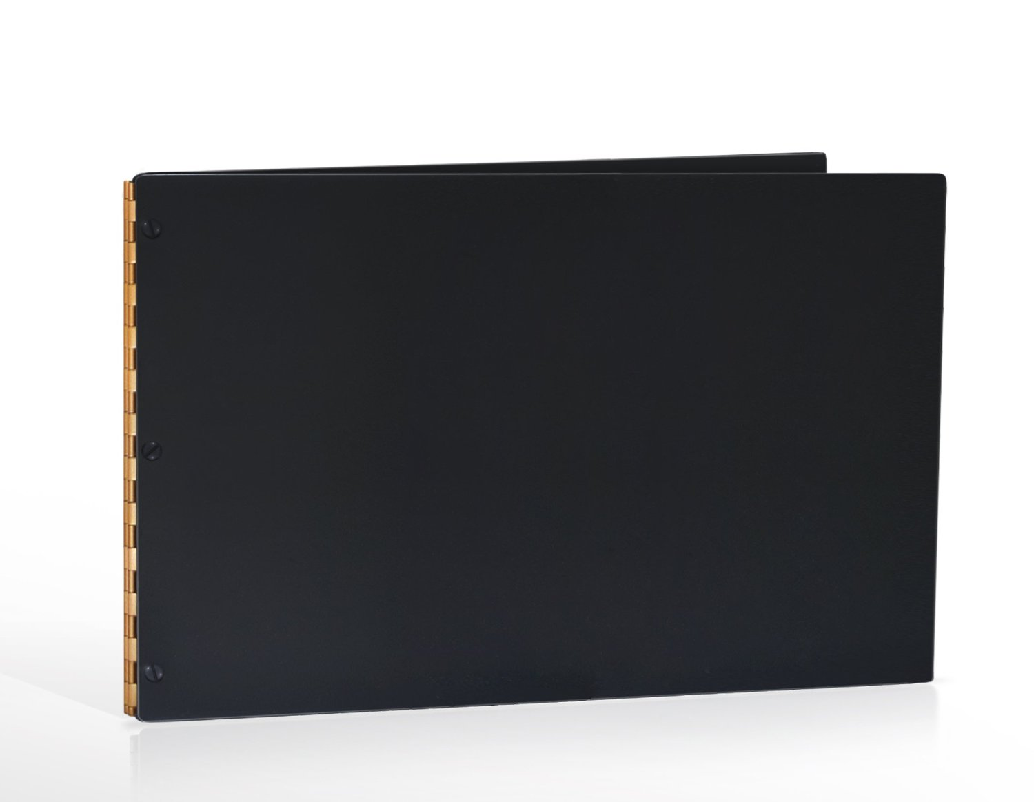 11x17 Landscape Matte Black Portfolio with Gold Hinges. Portfolio book, Screw post portfolio, Portfolio Presentation. Engraving services are not included.