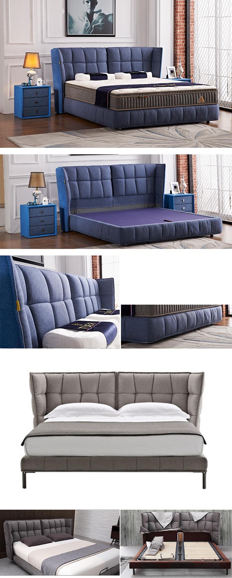 Europäischen Stil Bedbroom Möbel Diwan Bett Design Stoff König Größe ...