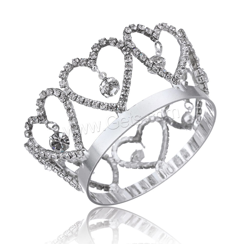 platinum color plated heart shape twinkle rhinestone princess <strong>Crown</strong>
